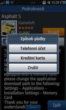 Nákup aplikací z obchodu SamsungApps nově prostřednictvím prémiových SMS