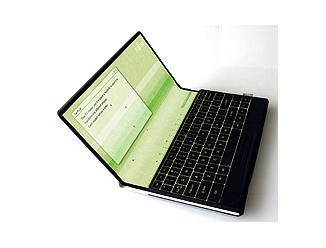 Plátěný notebook