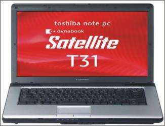 Toshiba Satellite T31 s operačním systémem Windows XP a Vista