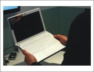 """ECS poprvé ukazuje 11"""" notebook s HSDPA"""